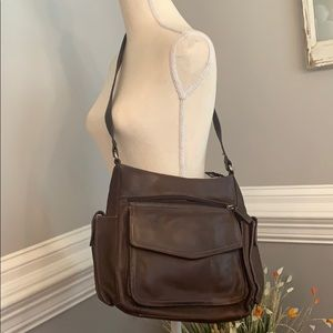 Brown Leather Fossil Shoulder Bag Style 75082
